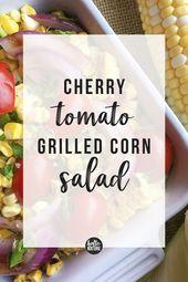 Cherry Tomato Grilled Corn Salad