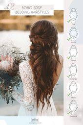 Great Incredible 42 Boho Wedding Hairstyles ♥ ️ Here you will find a plethora of boho wedding …, #frisuren # frisuren2019damen #frisurenan …