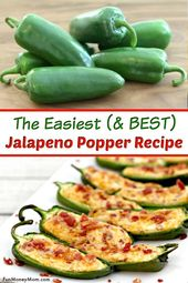 Baked Jalapeno Poppers With Cream Cheese, Cheddar & Bacon