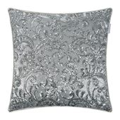 Buy Kylie Minogue at Home Cadence Bed Pillow – Silver – 55x55cm   – FURNITURE & HOME DECOR