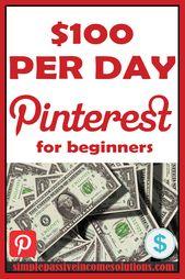 10 Möglichkeiten, um auf Pinterest SCHNELL 3000 US-Dollar zu verdienen   – Working from home