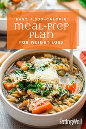 Easy 1,500-Calorie Meal-Prep Plan for Weight Loss