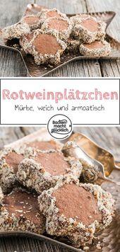 Galletas de vino tinto con chocolate   – Plätzchen