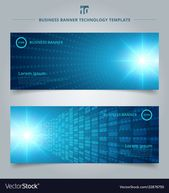 Banner web template bstract technology concept Vector Image , #Aff, #template, #bstract, #Banner, #web
