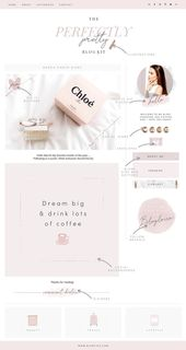 Pretty Blog Design Kit by Blog Pixie on Creative Market #AD