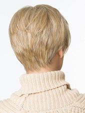 Elegant Gold Blonde Straight Short Synthetic Hair Wig for Adult Natural Looking | eBay #shortstraighthair