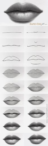 How to Draw Lips   – RapidFireArt Drawing Tutorials