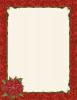 Candy Cane  Holly Letterhead Package Quantity  Stock White