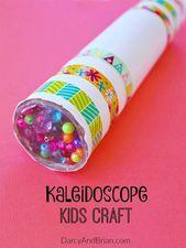 Spaß DIY Kaleidoskop-Kinderhandwerk   – Kinder Basteln