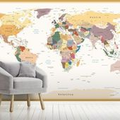 Old Style World Map Wallpaper | Wallsauce US