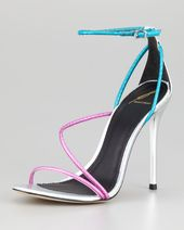 B Brian Atwood Labrea Hologram Snakeskin Sandal – Shoes