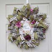 Farmhouse Fall Wreath, Fall Wreaths For Front Door, Fall Door Decor, Pumpkin Wreath, Country Fall Wreath, Ohio Girl Creations
