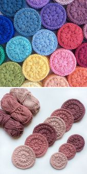 Stitched Up Make Up Scrubbies – Free Pattern (Beautiful Skills – Crochet Knitting Quilting)