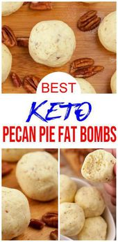 Keto Fat Bombs – BEST Keto Pecan Pie Fat Bombs – {Easy – NO Bake} NO Sugar Low Carb Recipe