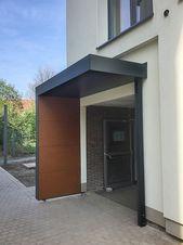 Windfang Gemauert In Fassadenfarbe Eingangsbereich