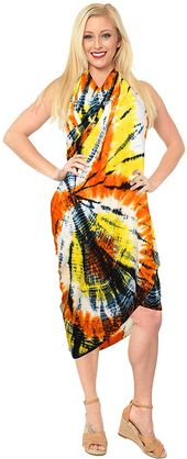 Womens Beach Swimsuit Cover Up Sarong Swimwear Cover-Up Wrap Skirt Plus Size Large Maxi GB