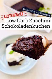 Calabacín bajo en carbohidratos Scholadenkuchen   – Low Carb Kuchen & Torten