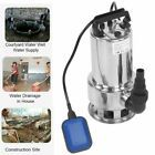 1100W Submersible Stainless Steel 4300GPH Dirty Water Pump Pool Pond Flood Drain