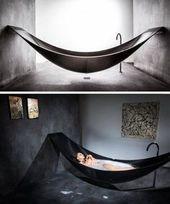 Floating Hammock Bathtub Provides Ultimate Relaxation