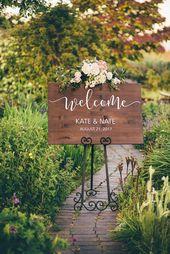 Wedding Welcome Sign – Wood Wedding Sign – Rustic Wedding Decor