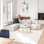 Introducing our new Remi Modular Sectional series! It comes in a variety of fabr…