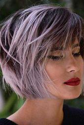 Idées uniques de couleur de cheveux courts pour les femmes  #cheveux #couleur #…