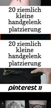 20 hübsche kleine Tattoo-Ideen für die Platzierung des Handgelenks für Frauen, #woman # for #handkit #k … 7 2   – Tattoos