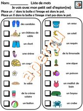 Jeu D Expression Orale Theme L Ete French Game I Spy Fun French Teaching French French Activities