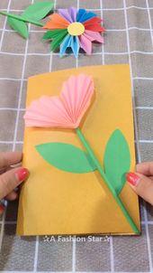 3D Flower Greeting Card Making Idea – DIY – ✰A Fashion Star✰