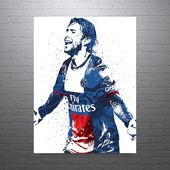 Maxwell Paris Saint-Germain PSG Soccer Poster, Sports Art Print, Basketball Poster, Kids Decor, Man Cave