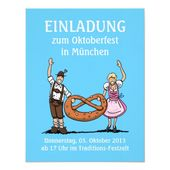 Invitation Oktoberfest Munich Couple Pretzel – Great #Oktoberfest party invitati…