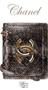 Brilliant Luxury by Emmy DE ♦Chanel Gold Python Flap Bag FW 2016/17 #Chanelhan…