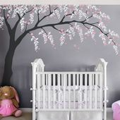Cherry Blossom Wall Decal, Cherry Blossom Decal, Baby Nursery Wall Decal, Willow Tree Wall Decal, Toddler Design  – Babykamer