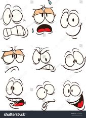 Cartoon faces. Vector clip art illustration. Each …