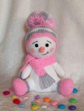 Crochet snowman amigurumi Pattern. Free Crochet Pa…