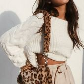 Carla Chenille Crop Sweater