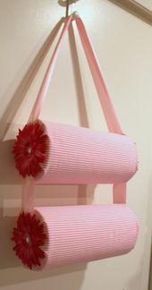 b1ea17e7279bf33e3edd08f4042ad241  paper towel rolls paper towels - DIY headband holder