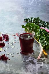 This cleansing beet orange juice with chard and ap…
