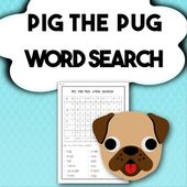 Pig The Pug Word Search Creative Lesson Plans Teaching Pugs