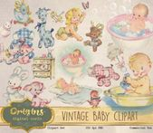 Baby Ilustration 36+ Ideas for baby ilustration vintage etsy