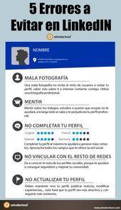 5 errores a evitar en Linkedin #infografia #infographic #socialmedia