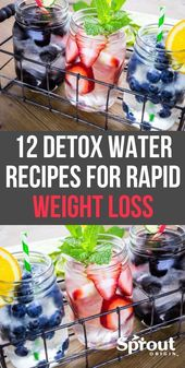 12 Detox Water Weight Loss Rezepte – Gewichtsverlust – Sprossenherkunft – … – W   – mode