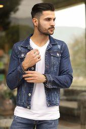 للبيع 15 جاكيت جينز دينيم شبابي كاجوال تركي 2021 Denim Jacket Men Mens Jackets Jackets