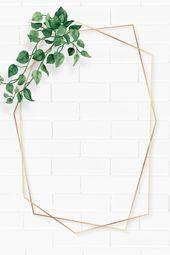 Download premium illustration of Blank hexagon camellia leaves frame