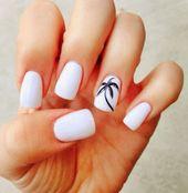 Weiße Nägel | Trendy Summer Nails Designs, die Sie ausprobieren sollten #SummerNails #Nail …..