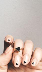 Bing Bang NYC Gold und schwarze Ringe …   – NAIL ART IDEAS