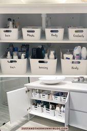 So organisieren Sie Ihren Badezimmerschrank #Bad #cupboard #organize   – Einrichten und wohnen