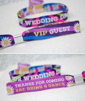 Our Wedding Day Festival Wedding Wristbands