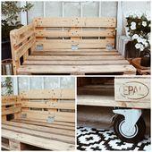 DIY Möbel aus Paletten selber machen – Balkonmöbel selber bauen
