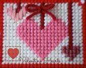 Plastic Canvas: Valentine Hearts, closeup from nap…